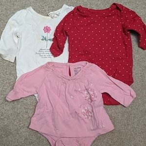 Bundle of 3 Baby Gap Onesie